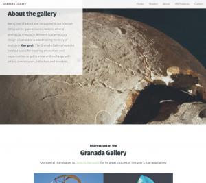 Webdesign Granada Gallery. Singel Page + Parallax Effekt